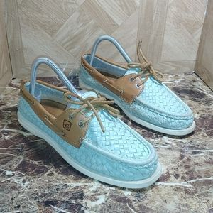 Sperry top-sider women's turquoise shoes size 9m